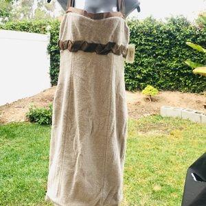 St. John Santana Collection Cream Knit Dress
